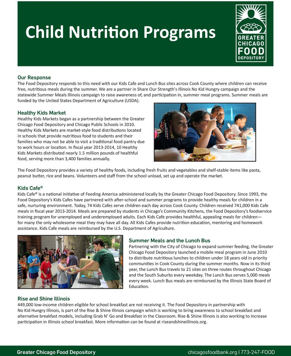 Summer meals are funded by the United States Department of Agriculture (USDA).