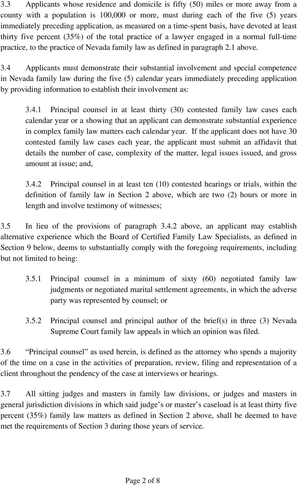 family law as defined in paragraph 2.1 above. 3.