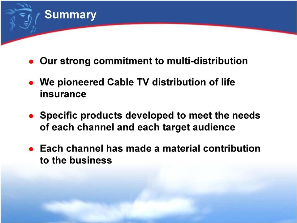 products developed to meet the needs of each channel and each