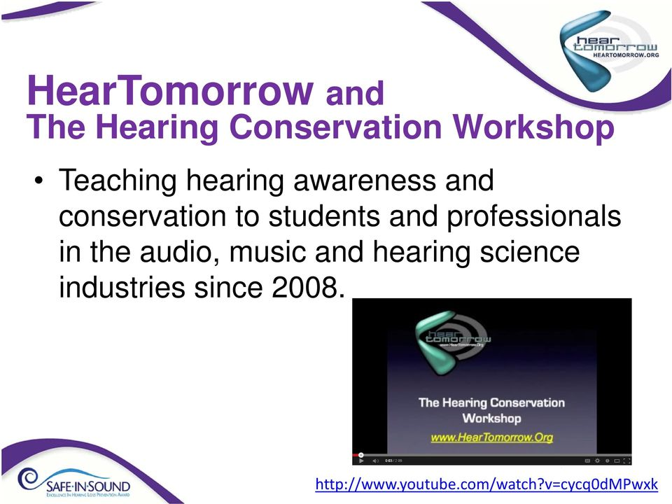 and professionals in the audio, music and hearing science