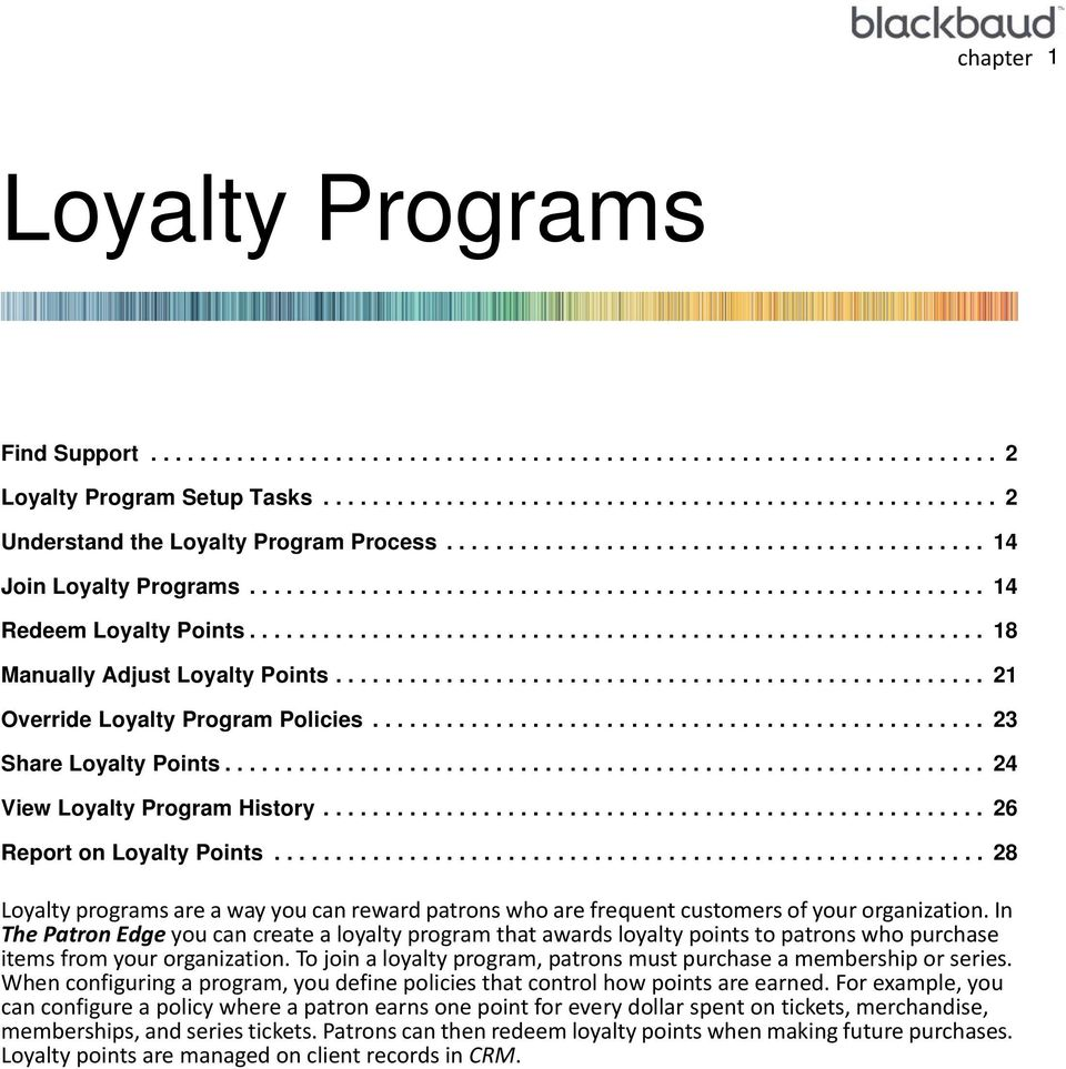 .................................................... 21 Override Loyalty Program Policies.................................................. 23 Share Loyalty Points.............................................................. 24 View Loyalty Program History.