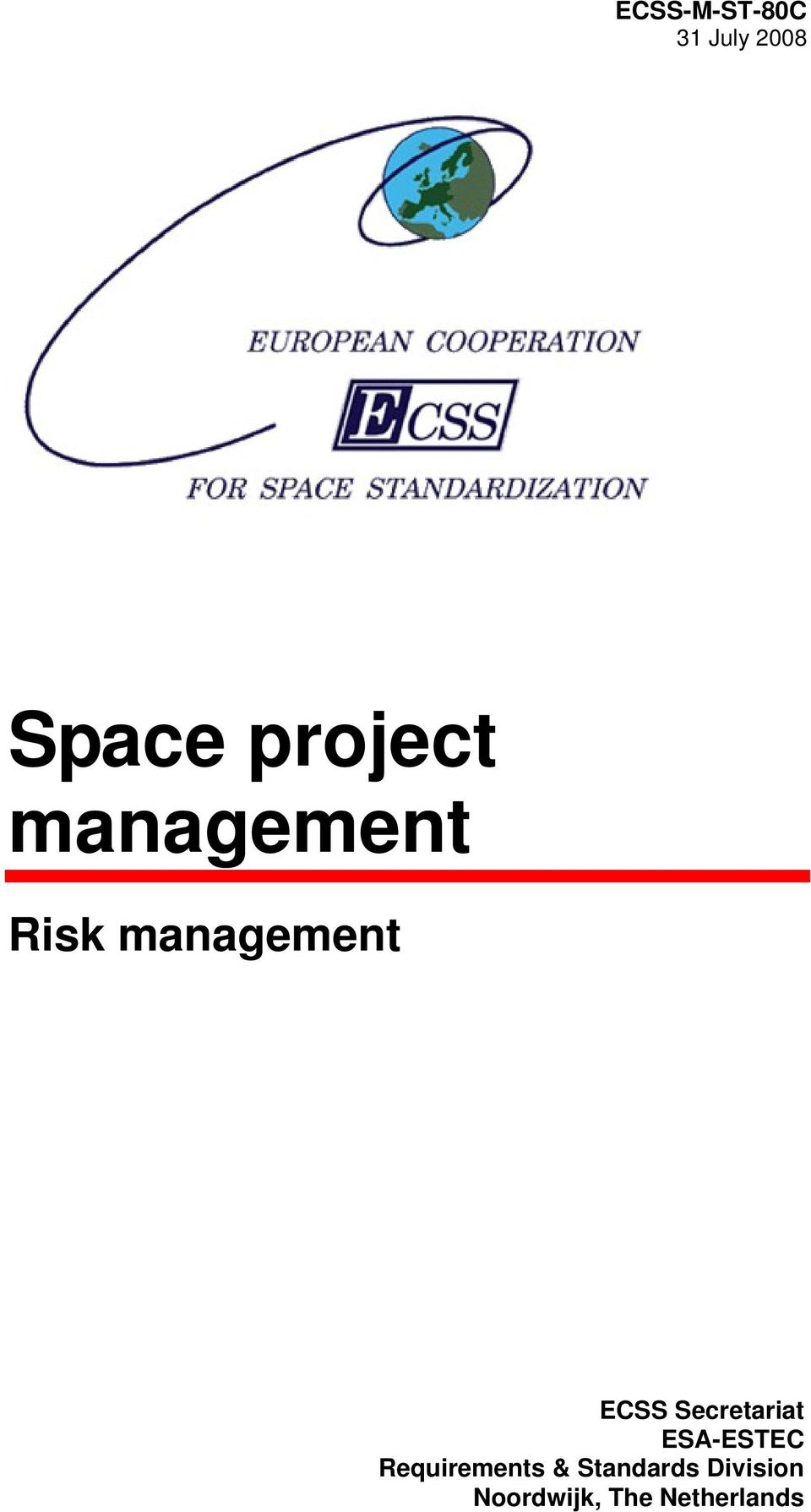 Secretariat ESA-ESTEC Requirements