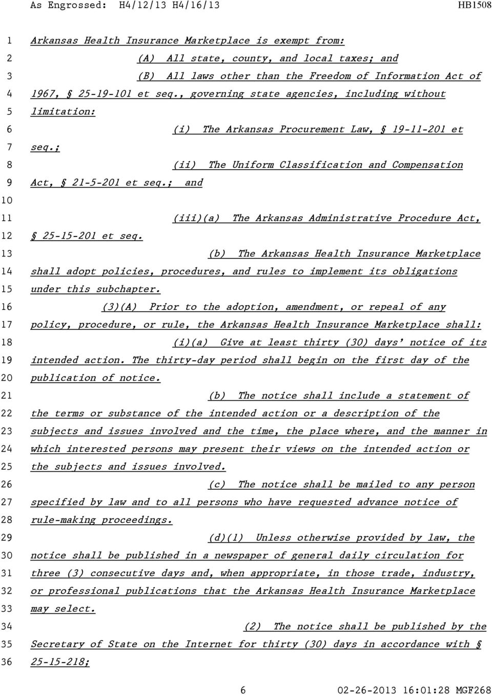 ; and (iii)(a) The Arkansas Administrative Procedure Act, -- et seq.