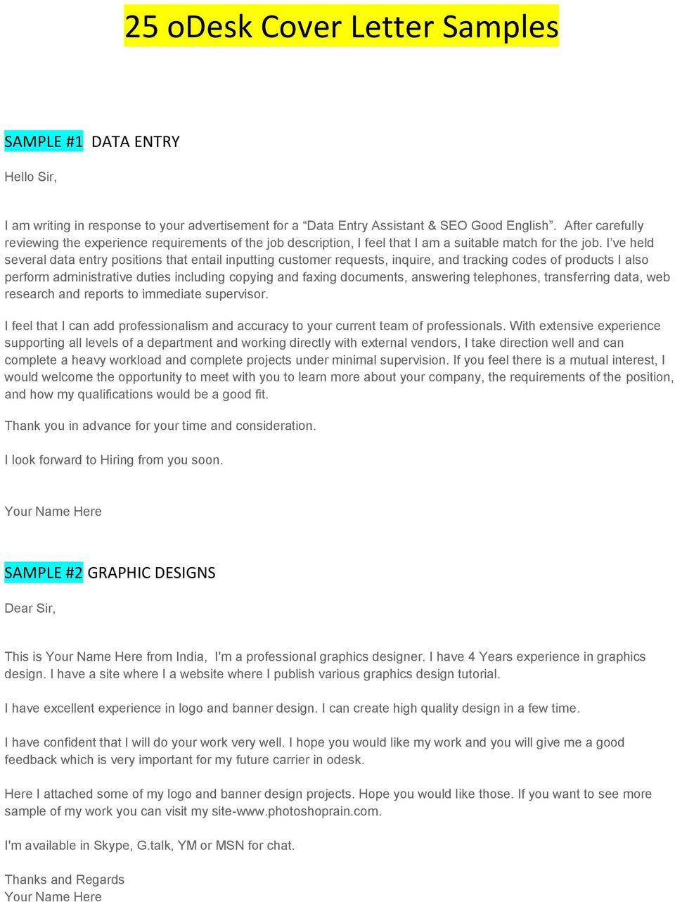 cover letter for odesk transcription
