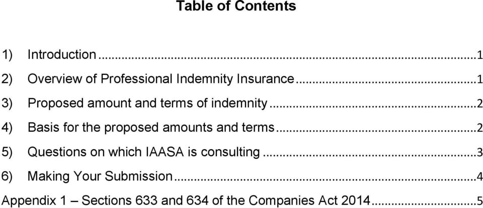..1 3) Proposed amount and terms of indemnity.