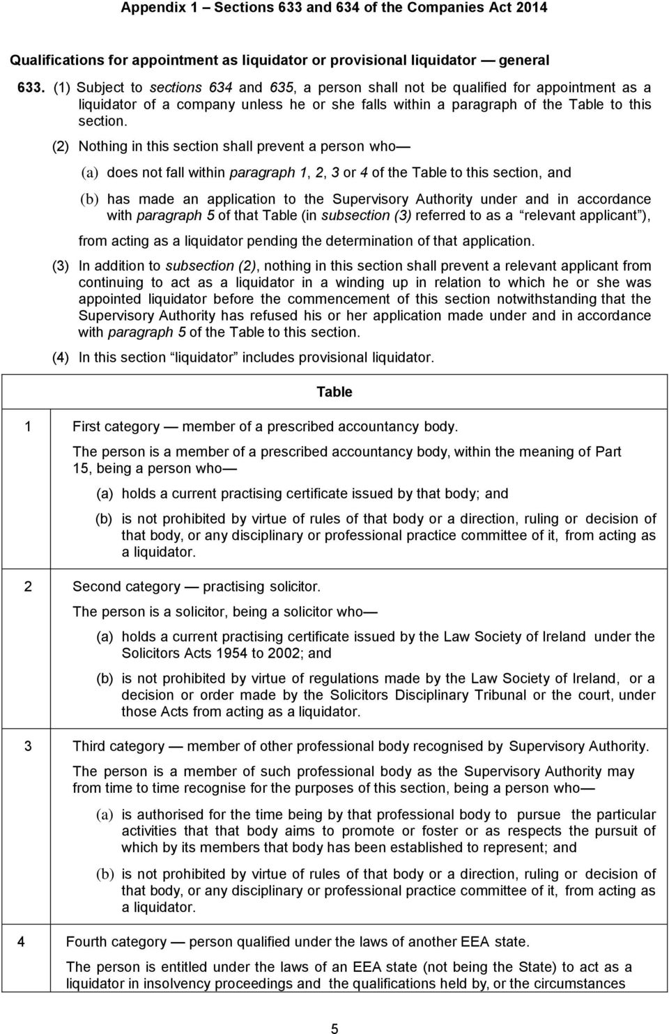 (2) Nothing in this section shall prevent a person who (a) does not fall within paragraph 1, 2, 3 or 4 of the Table to this section, and (b) has made an application to the Supervisory Authority under