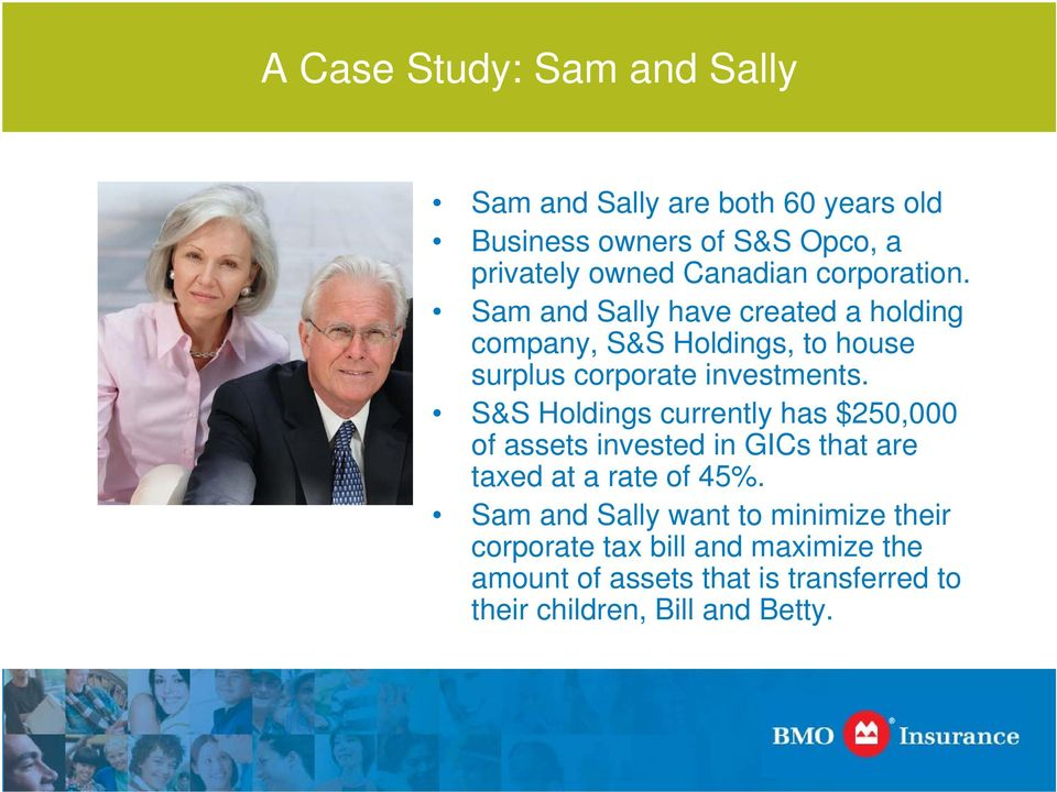 Sam and Sally have created a holding company, S&S Holdings, to house surplus corporate investments.