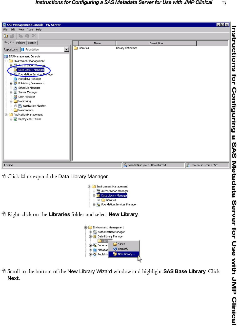 Right-click on the Libraries folder and select New Library.