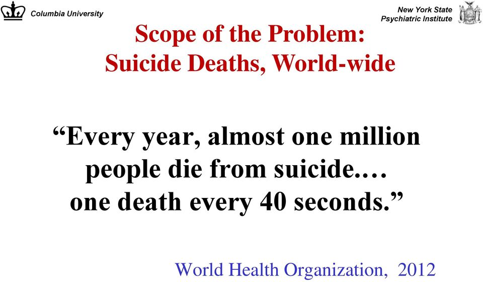 million people die from suicide.