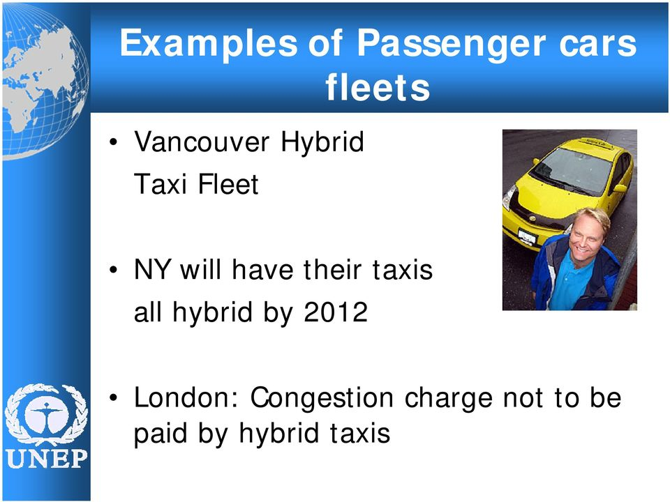 their taxis all hybrid by 2012 London: