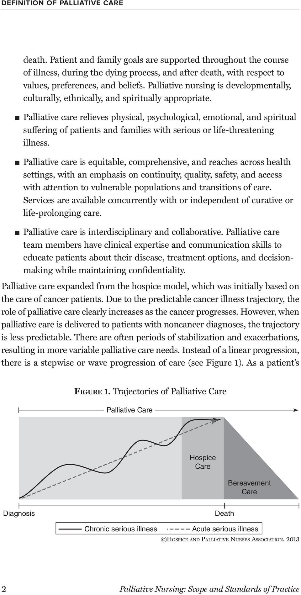 Palliative nursing is developmentally, culturally, ethnically, and spiritually appropriate.