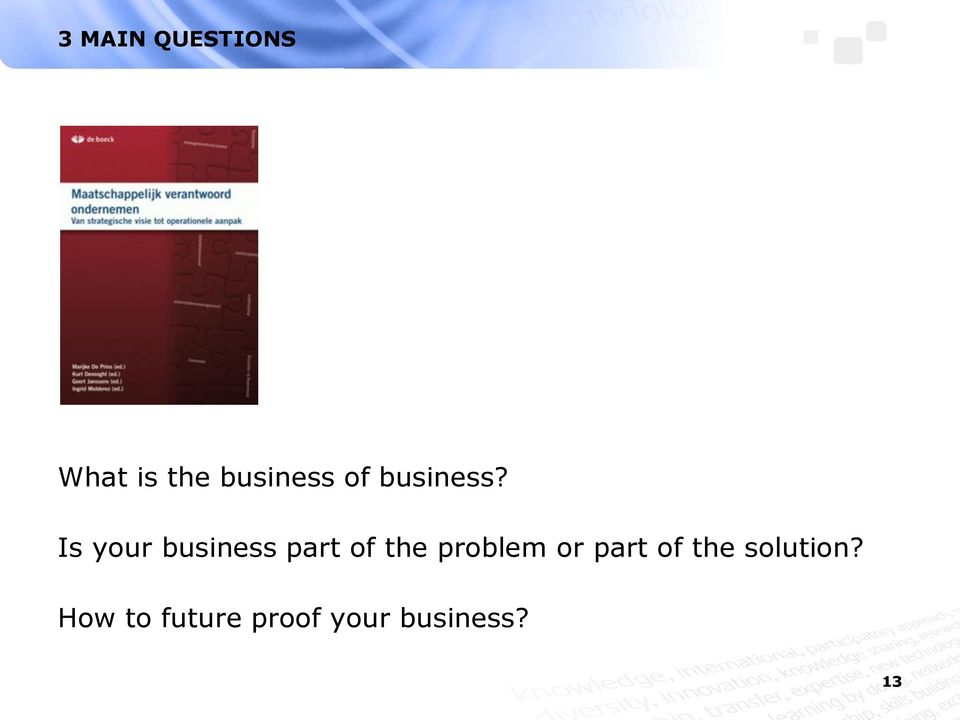 Is your business part of the problem