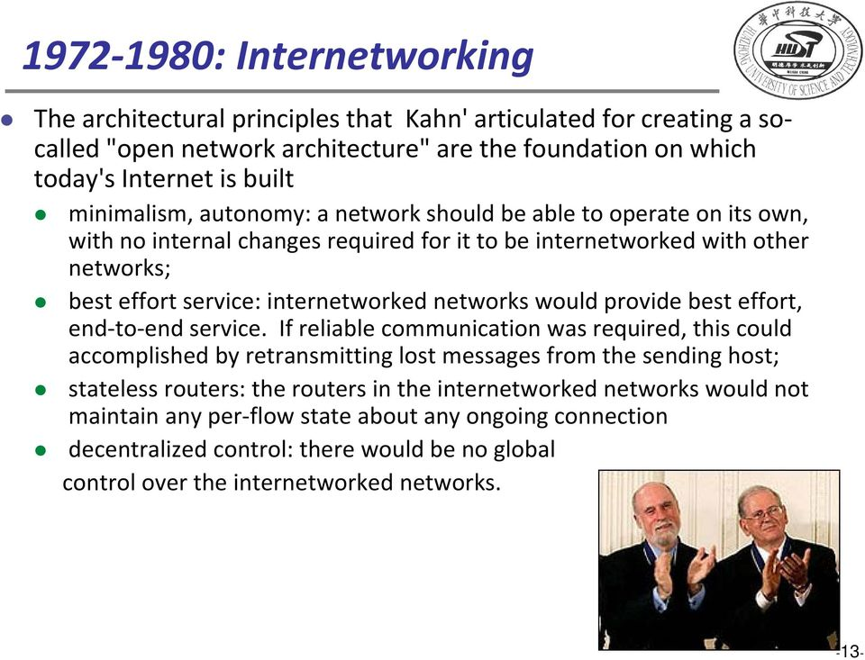 networks would provide best effort, end to end endservice.