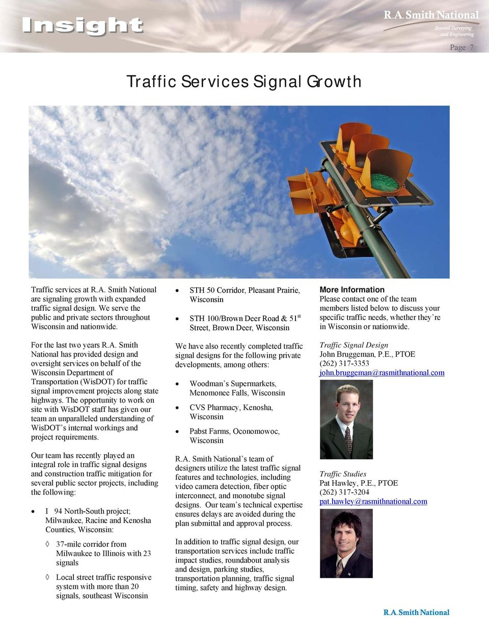 Project Briefs Project Spotlight Traffic Services Signal