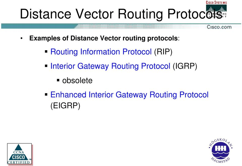 Information Protocol (RIP) Interior Gateway Routing