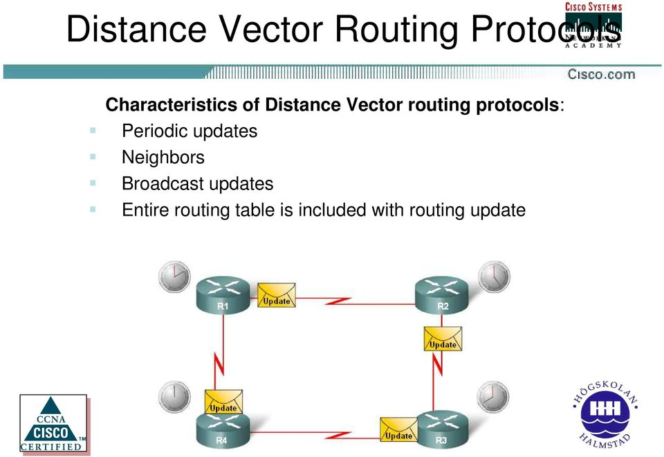 protocols: Periodic updates Neighbors