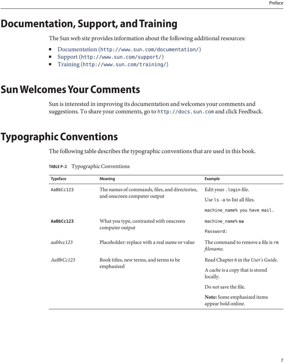 Typographic Conventions The following table describes the typographic conventions that are used in this book.