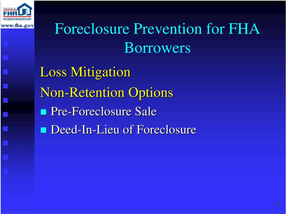 Options Pre-Foreclosure Sale