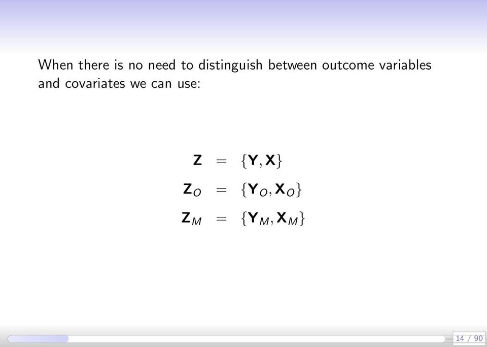 variables and covariates we can