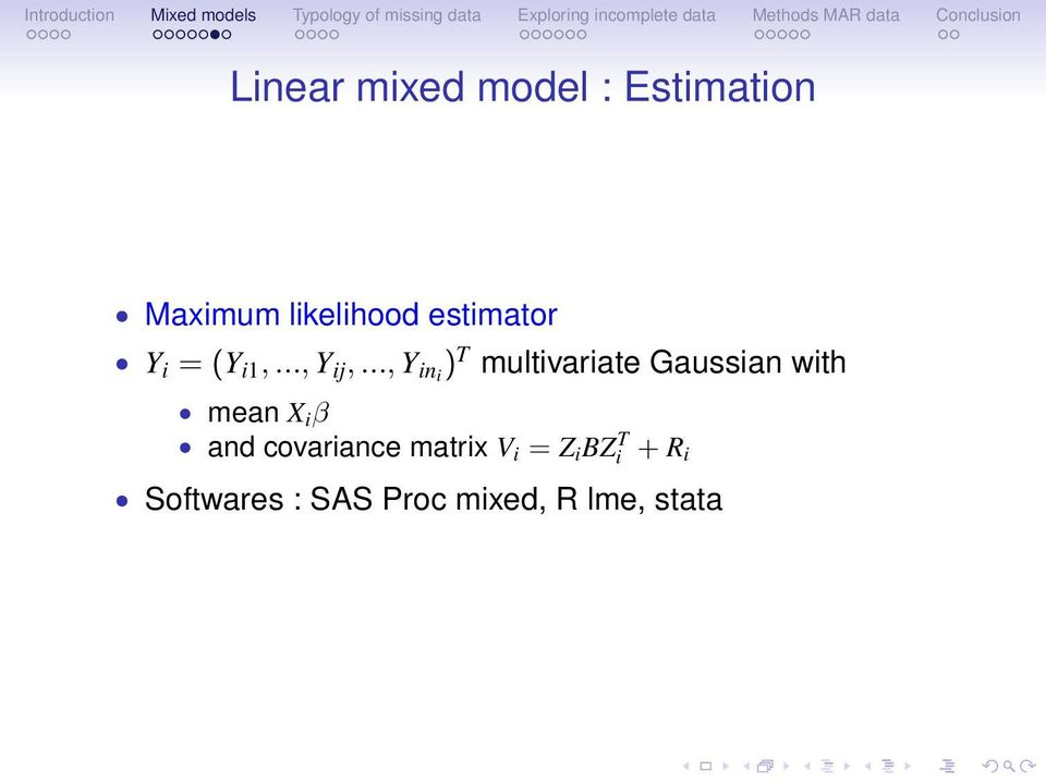 .., Y ini ) T multivariate Gaussian with mean X i β and