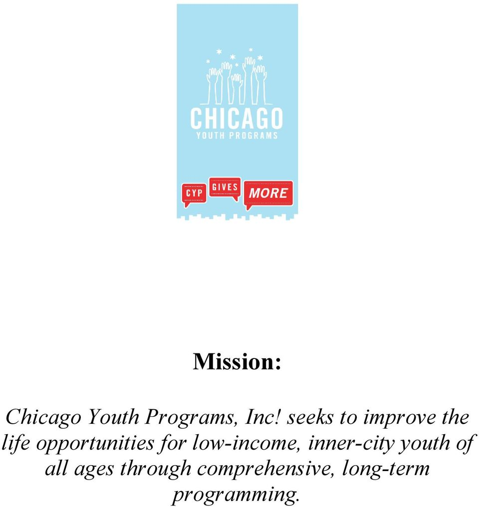 for low-income, inner-city youth of all