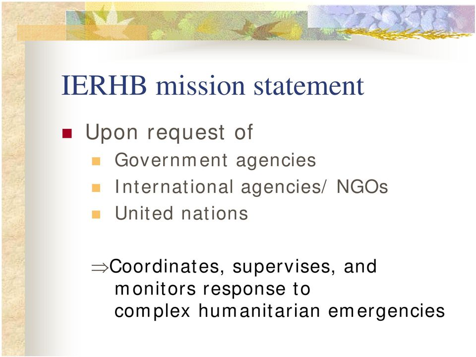 NGOs United nations Coordinates, supervises,
