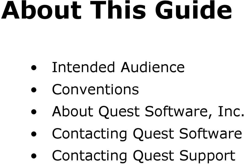 Quest Software, Inc.