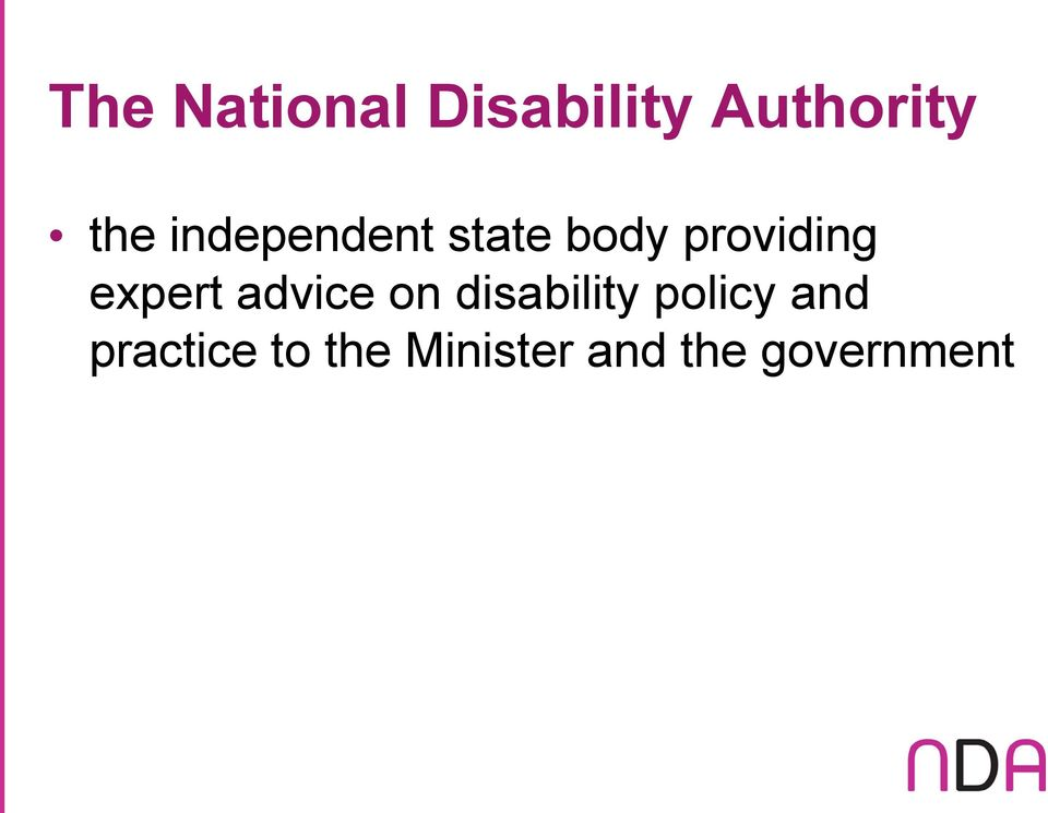expert advice on disability policy and