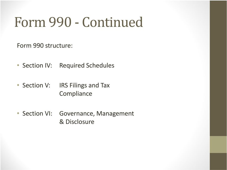 V: IRS Filings and Tax Compliance