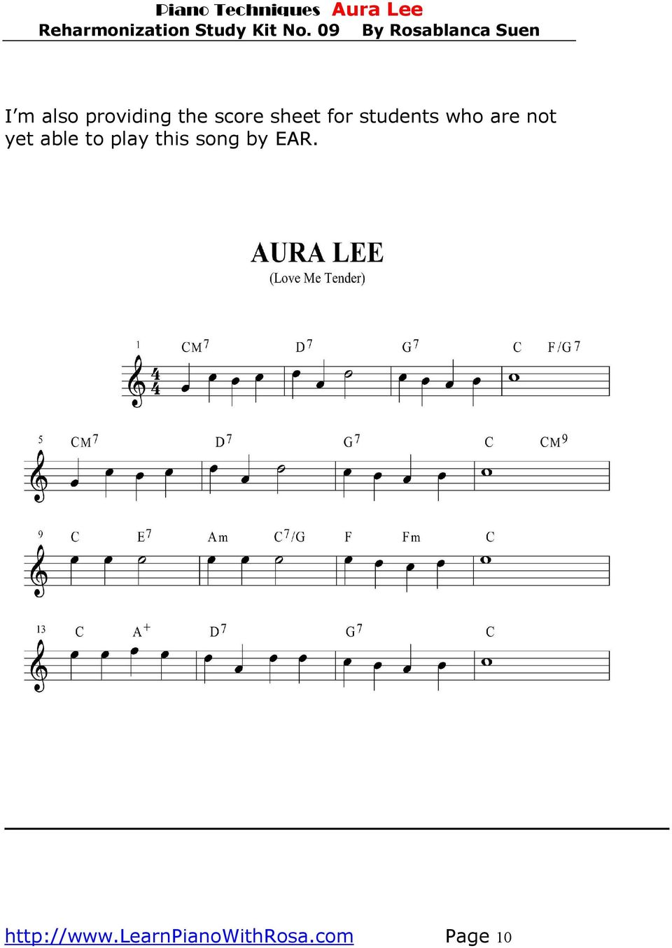 yet able to play this song by EAR.