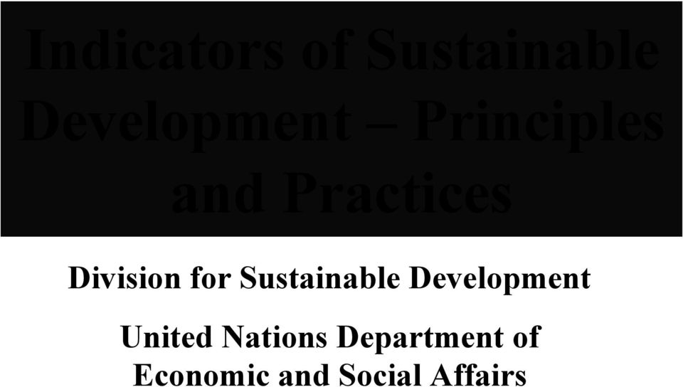 Sustainable Development United Nations