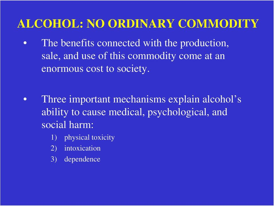Three important mechanisms explain alcohol s ability to cause medical,