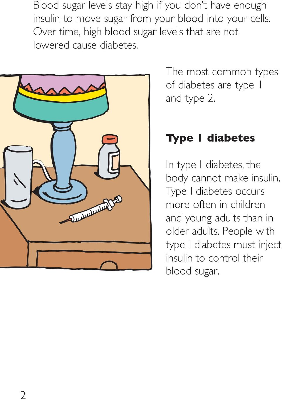 The most common types of diabetes are type 1 and type 2.