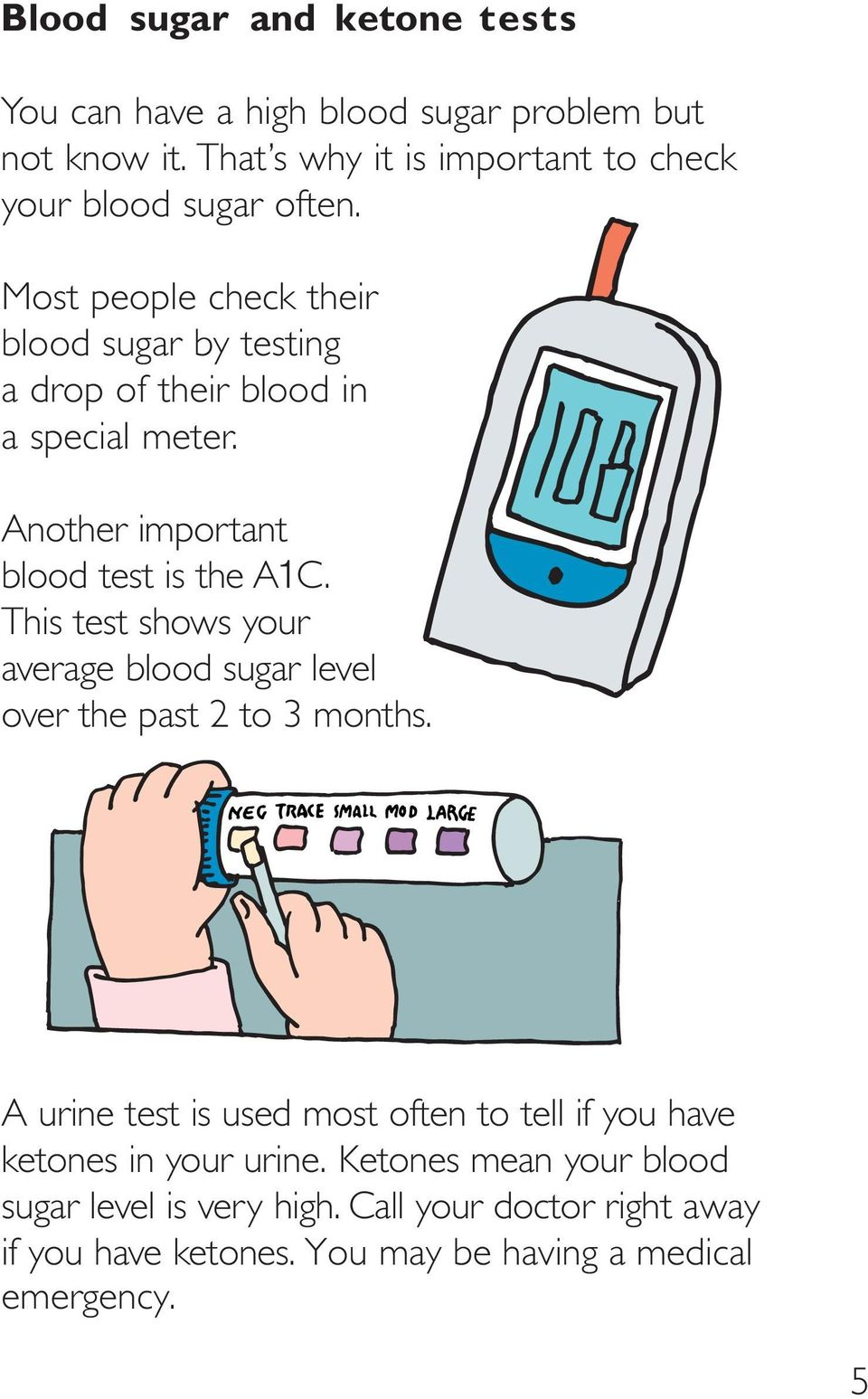 Most people check their blood sugar by testing a drop of their blood in a special meter. Another important blood test is the A1C.