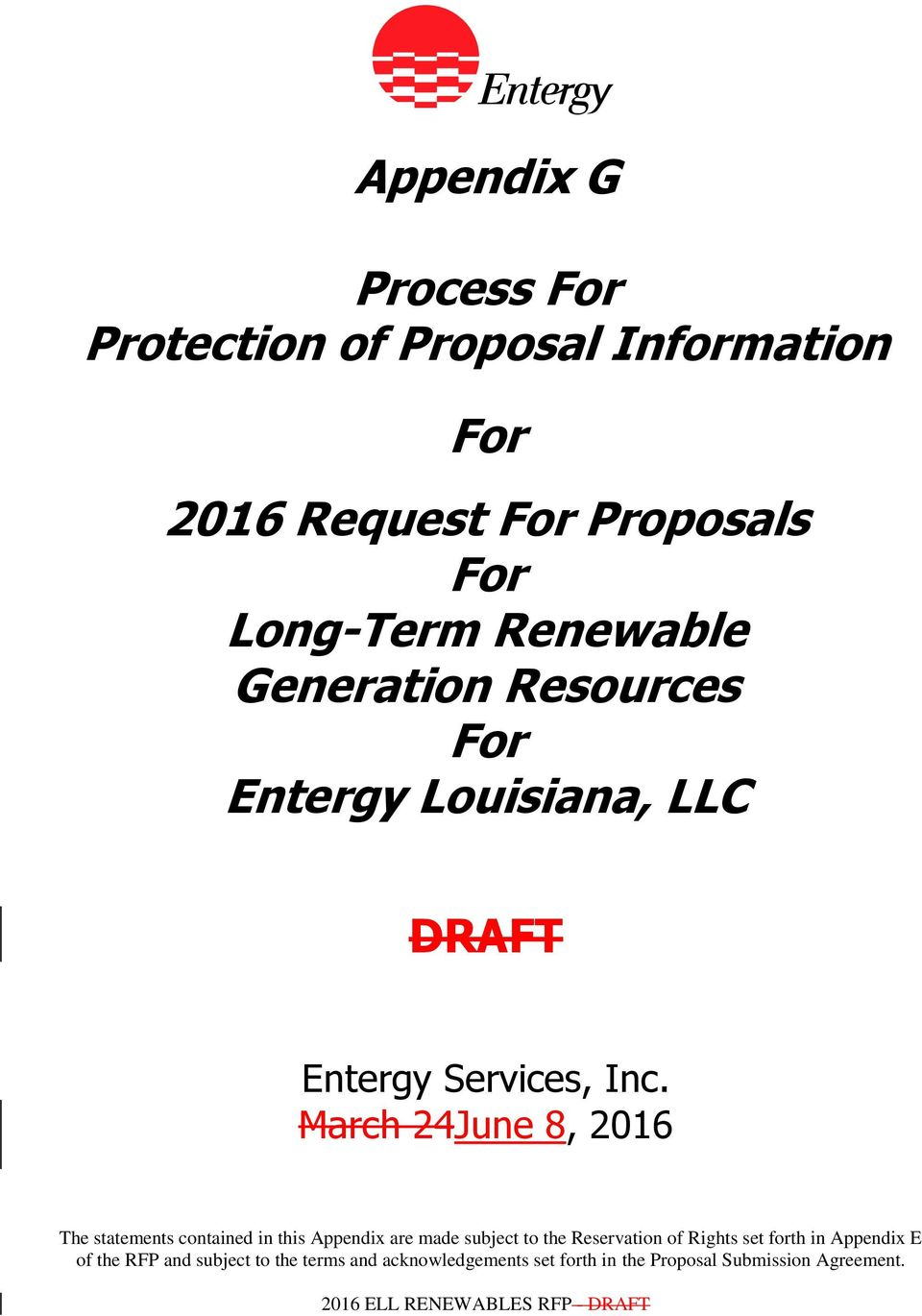 Renewable Generation Resources For Entergy