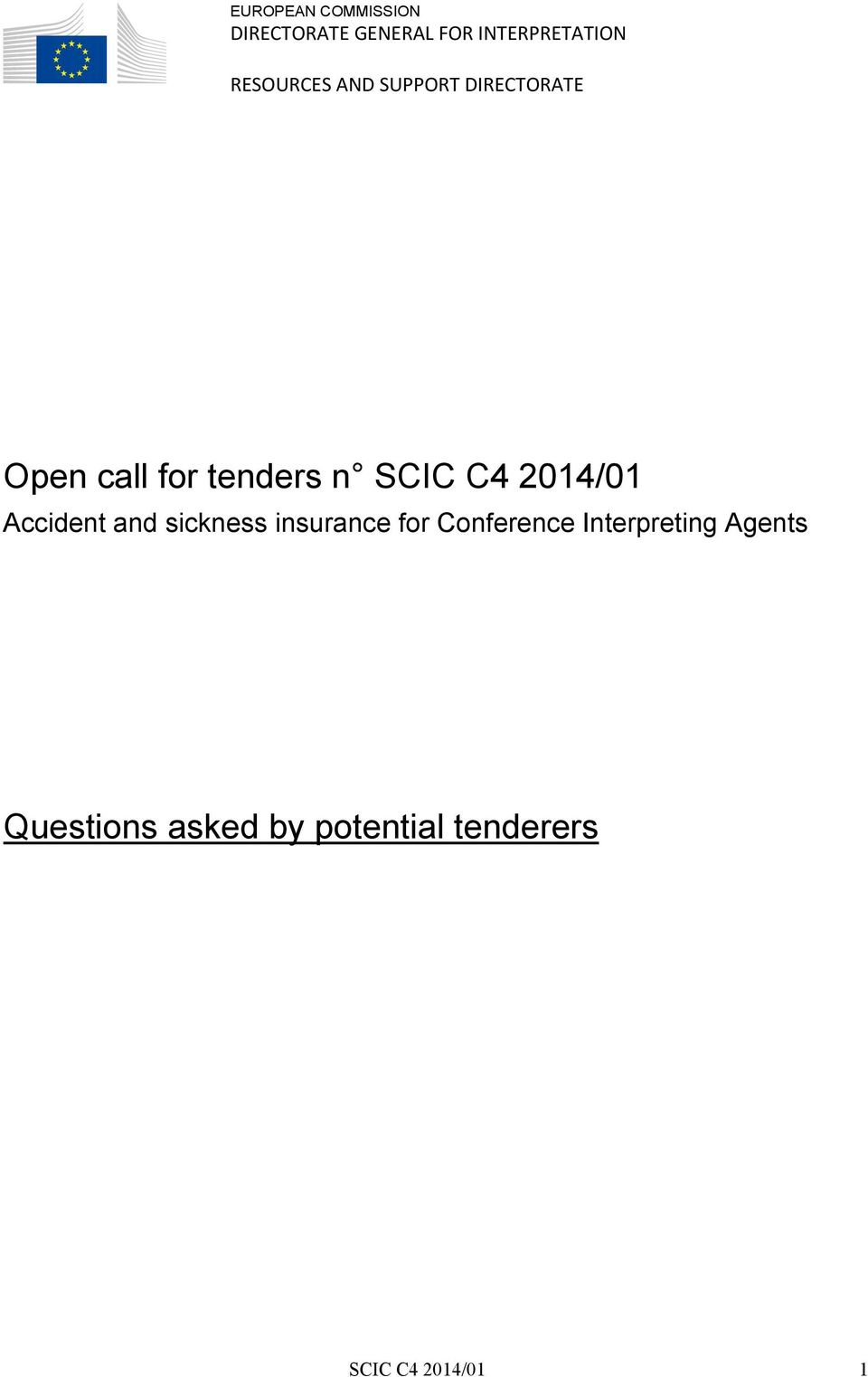 C4 2014/01 Accident and sickness insurance for Conference