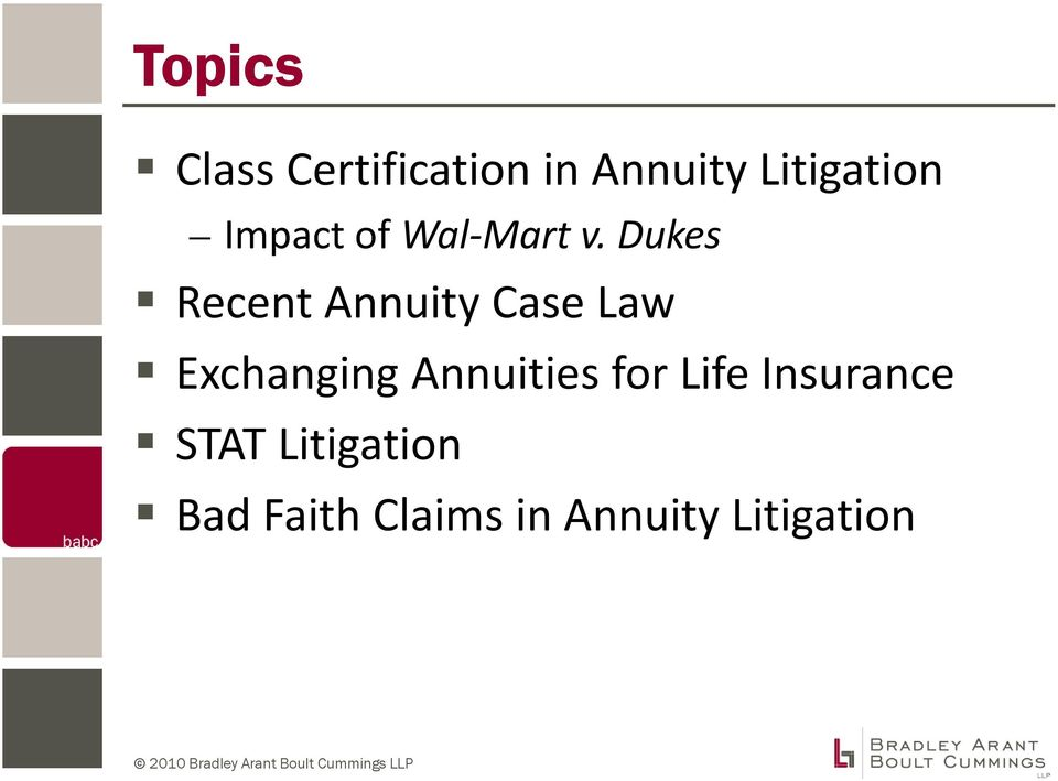 Dukes Recent Annuity Case Law Exchanging