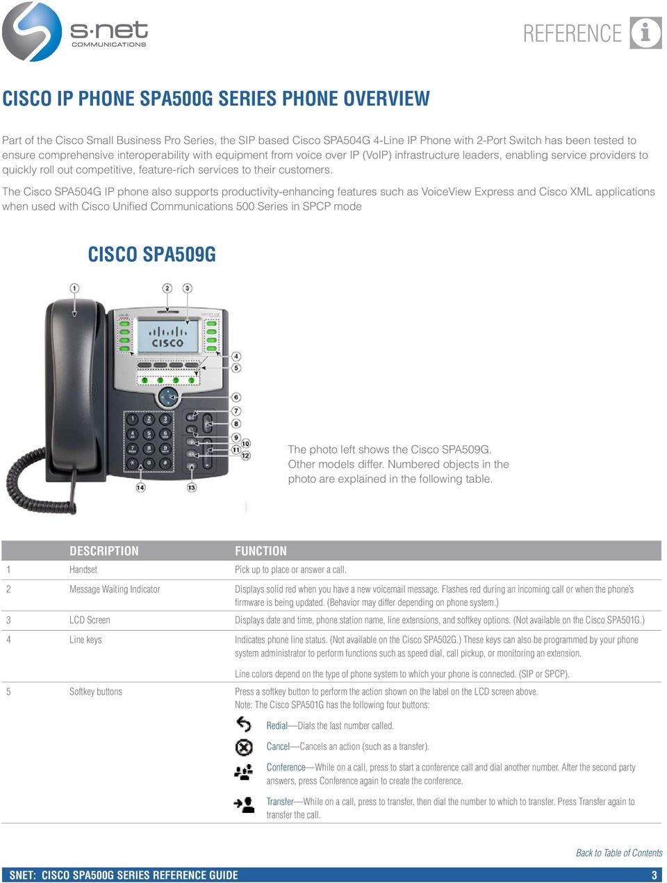 The Csco SPA504G IP phone also supports productvty-enhancng features such as VoceVew Express and Csco XML applcatons when used wth Csco Unfed Communcatons 500 Seres n SPCP mode CISCO SPA509G The