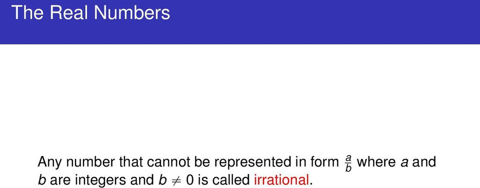 form a b b are integers and b