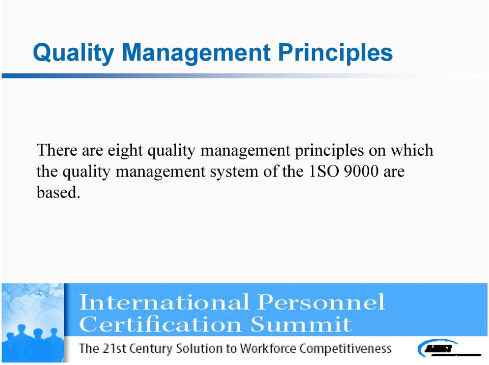 principles on which the quality