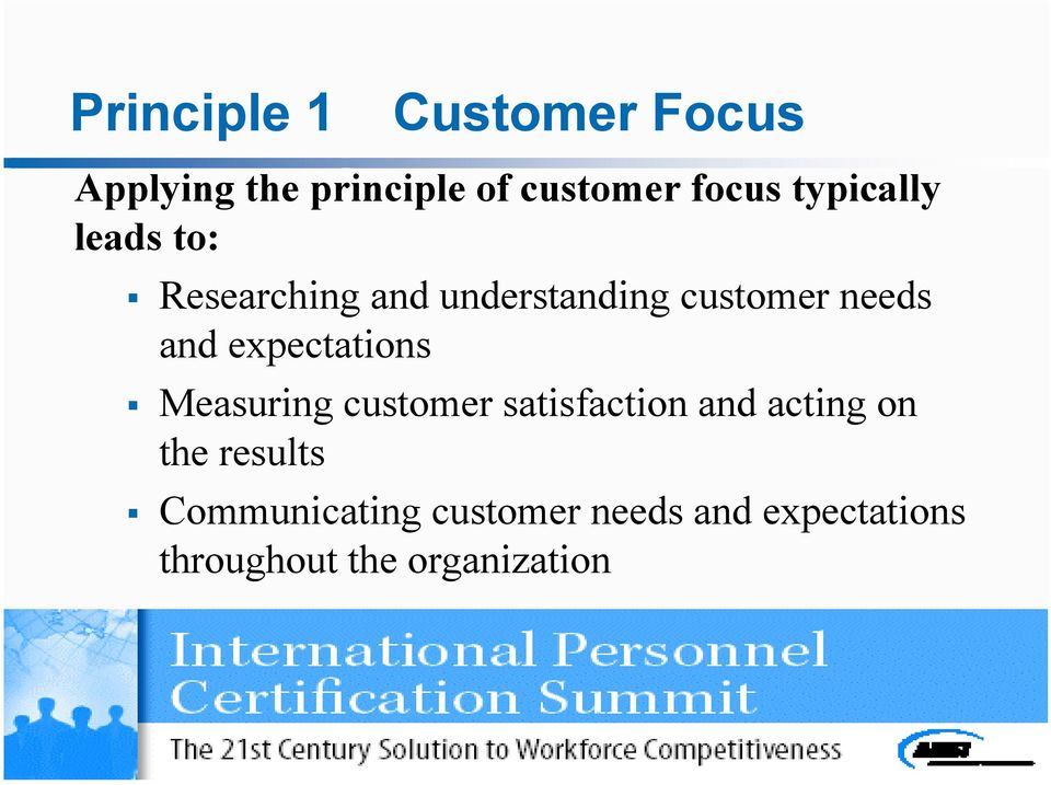 expectations Measuring customer satisfaction and acting on the results