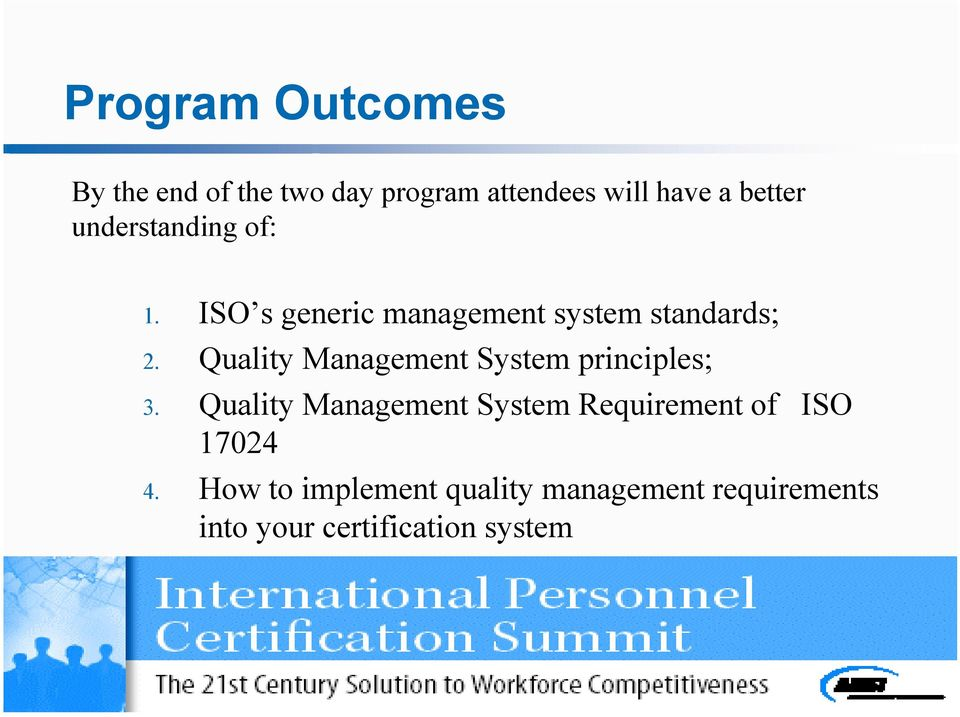 Quality Management System principles; 3.