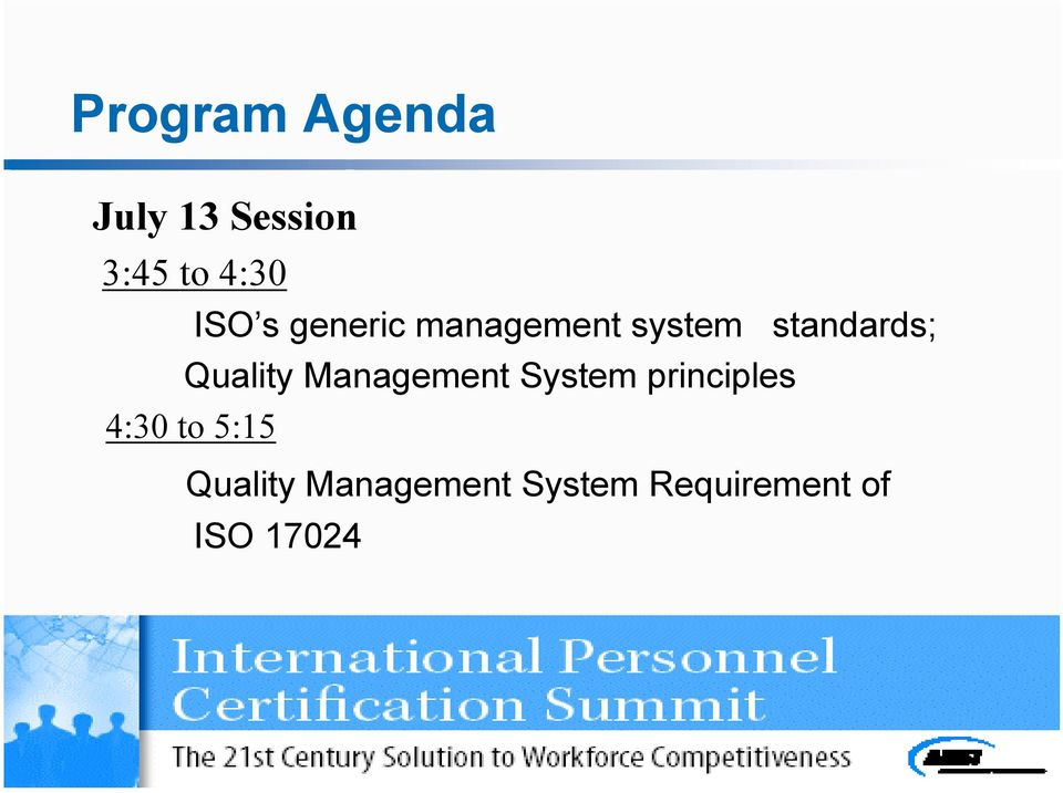 Quality Management System principles 4:30 to