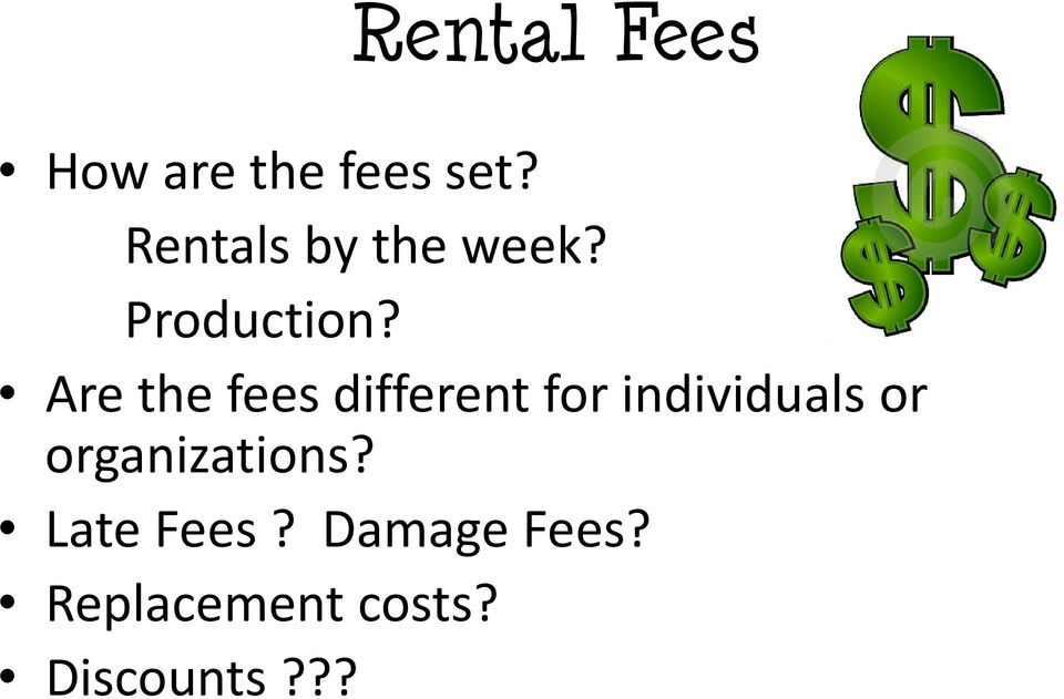 Are the fees different for individuals or