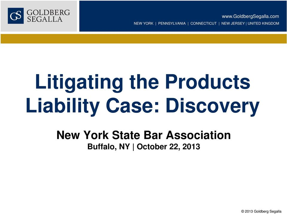 UNITED KINGDOM Litigating the Products Liability