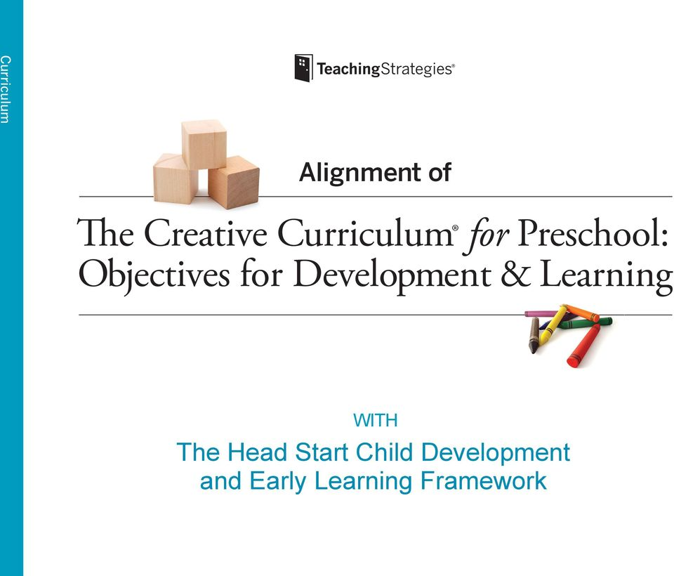 for Preschool: Objectives