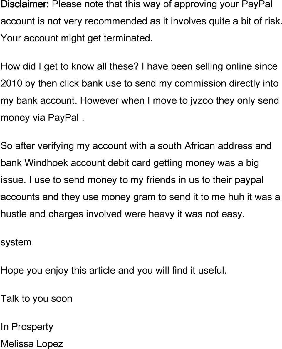 How To Get Your PayPal Account Verified And Withdraw Money