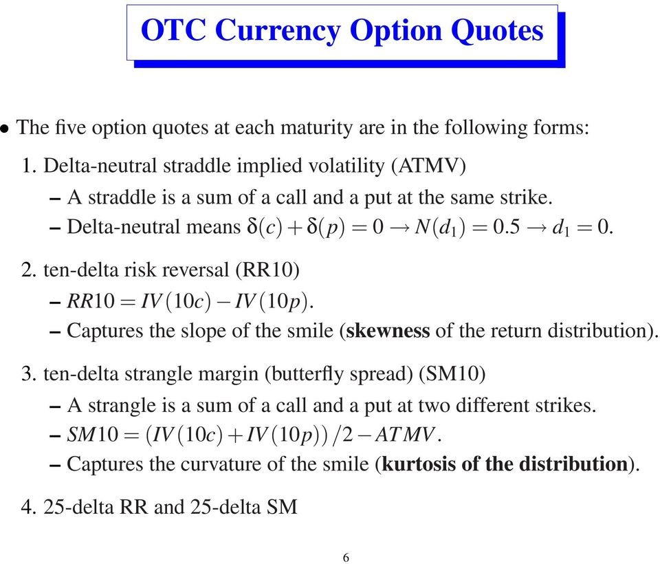 Fx options and smile risk pdf