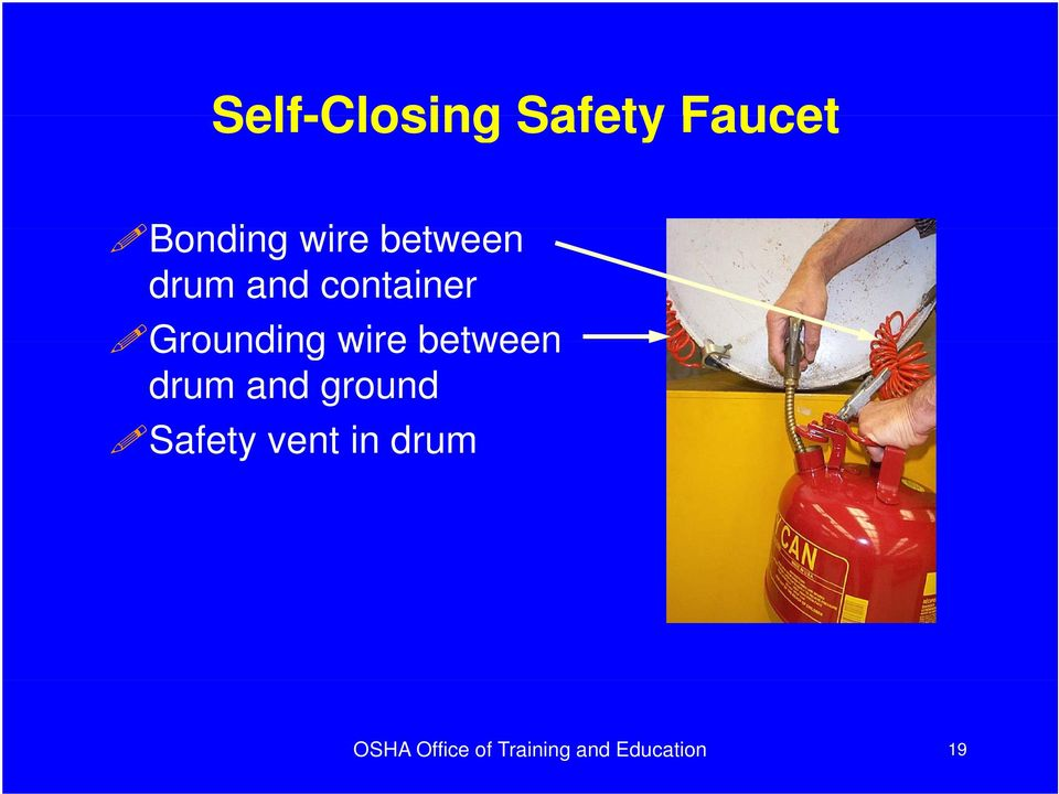 between drum and ground Safety y vent in
