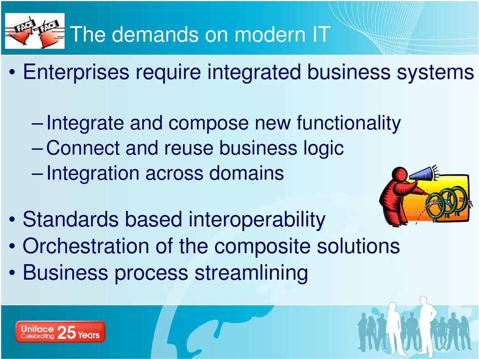 business logic Integration across domains Standards based